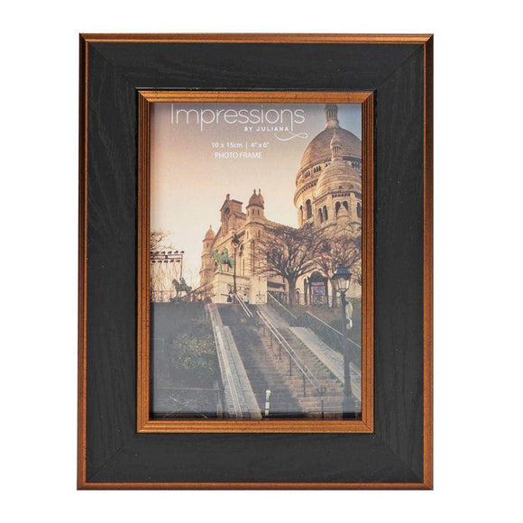 Impressions Black & Bronze Photo Frame 4 x 6 - Caths Direct
