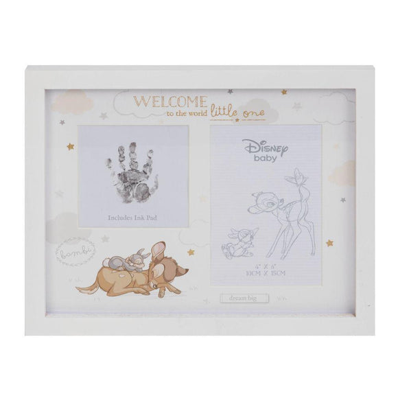 Disney Baby Magical Beginnings Photo & Hand Print Frame Bambi - Caths Direct