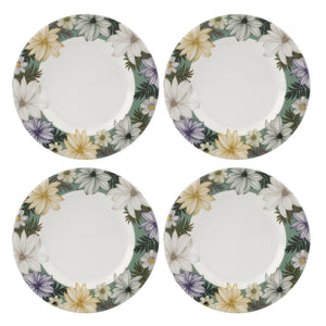 Portmeirion Atrium Collection Floral 8.75 Inch Plate Set of 4 - Caths Direct