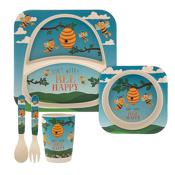 Eco Friendly Bamboo Be Happy Feeding Set - Caths Direct