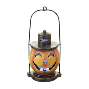 Halloween LED Coloured Light Up Pumpkin Lantern - Caths Direct