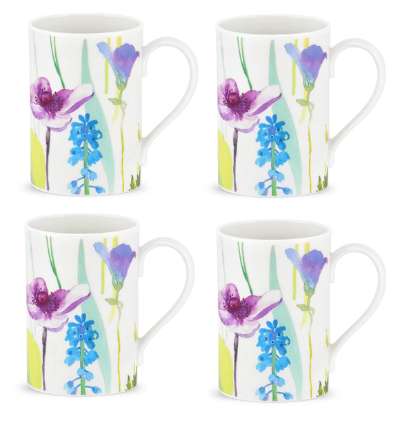 Portmeirion Water Garden Design Set of 4 Mugs - Caths Direct