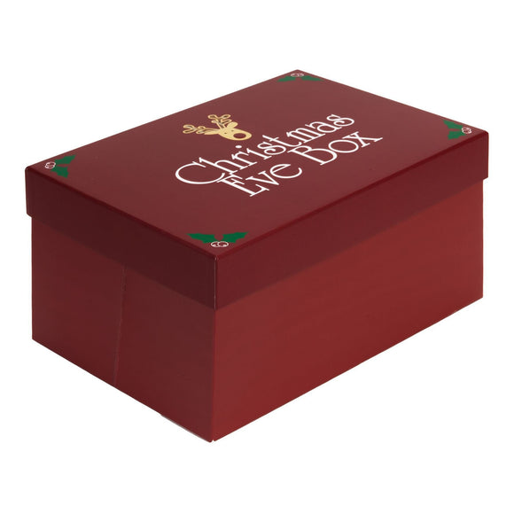 Folded Christmas Eve Box Red Lid - Caths Direct