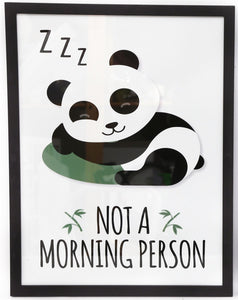 Large Panda Styled Picture Print 'Not A Morning Person' - Caths Direct