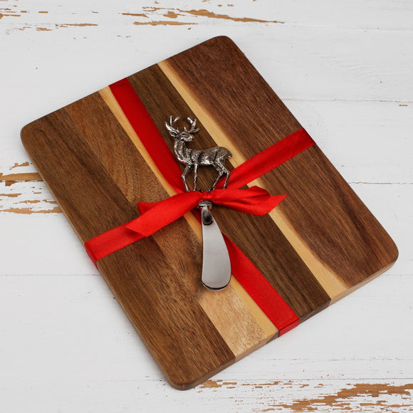 Wooden Cheeseboard Gift Set - Caths Direct