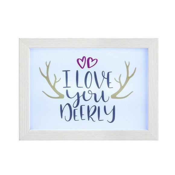 Light Up Frame Box I Love You Deerly - Caths Direct