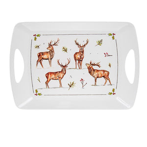 Winter Stags Design Large Tray - Caths Direct