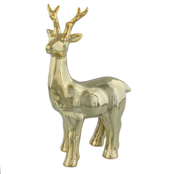 Gold Standing Reindeer Ornament - Caths Direct