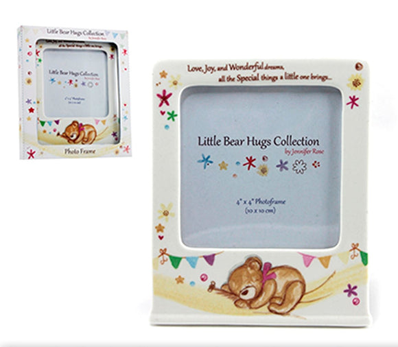 Little Bear Hugs Collection Photo Frame Holds 4