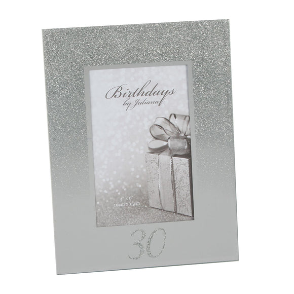 Glitter Mirror Frame 30th - Caths Direct