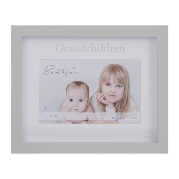 Bambino Grandchildren Grey Photo Frame 6 x 4 - Caths Direct