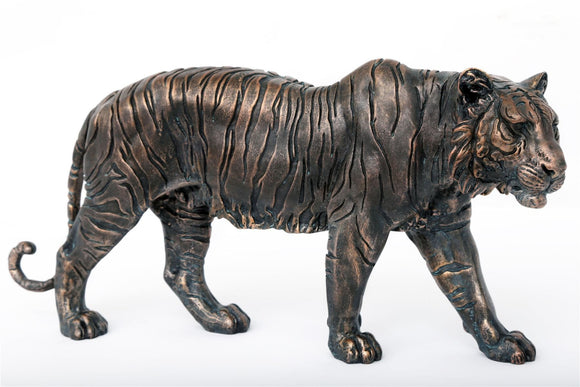 Bronze Effect Tiger Ornament