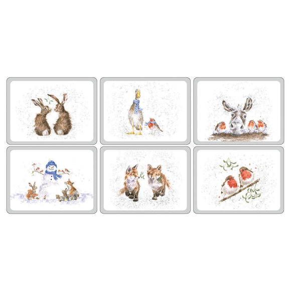 Pimpernel Wrendale Christmas Placemats Set of 6 Different Designs - Caths Direct