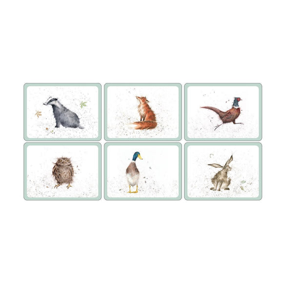 Wrendale Design Country Animals Set of 6 Placemats - Caths Direct