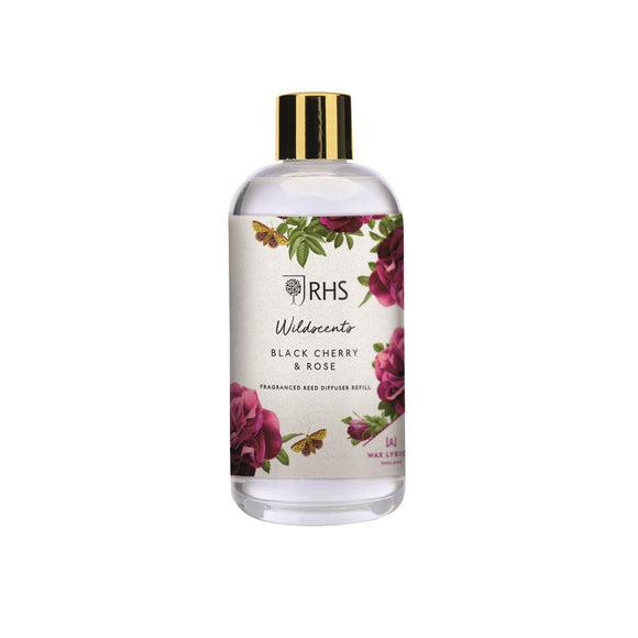 Wax Lyrical RHS Wildscents Black Cherry & Rose Diffuser Refill 200ml - Caths Direct