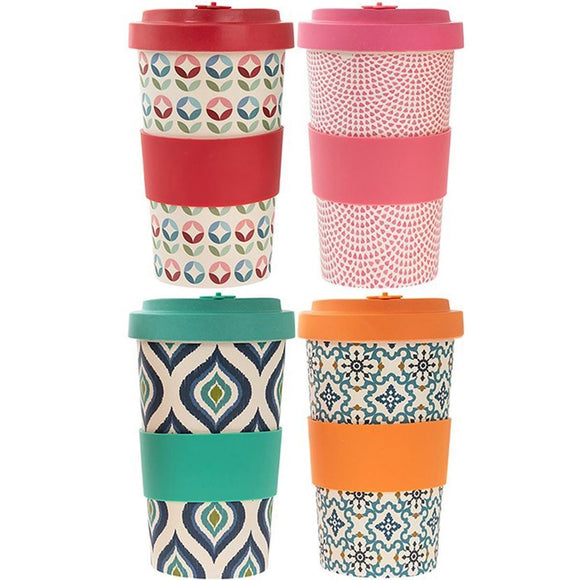 Bamboo Eco Travel Mug Choice of 4 Designs - Caths Direct