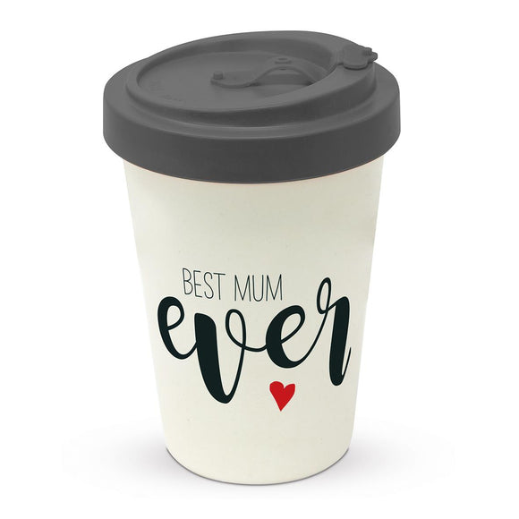 Best Mum Ever Design Eco Friendly Bamboo Travel Mug - Caths Direct