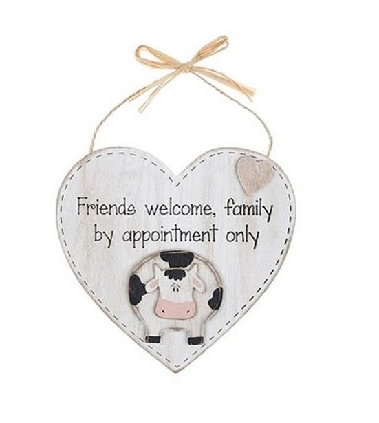 Farm Friends Hanging Heart Plaque - Caths Direct