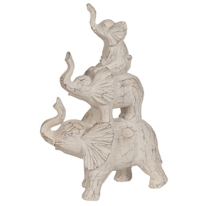 Trio of Elephants Tower Figurine - Caths Direct