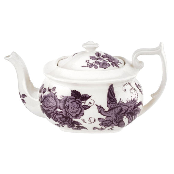 Spode Kingsley Teapot White - Caths Direct