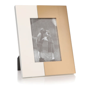 Photo Frame White & Gold 4X6 - Caths Direct