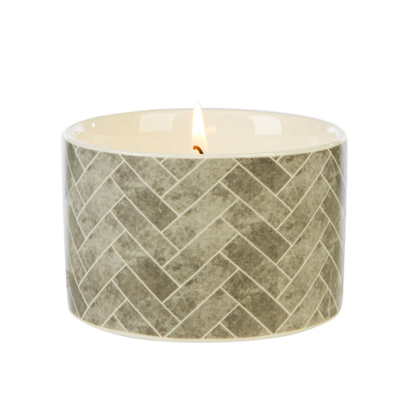 Fired Earth Design Medium Ceramic Candle Earl Grey & Vetivert - Caths Direct