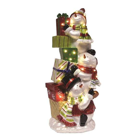 LED Snowmen with Presents Christmas Decoration - Caths Direct