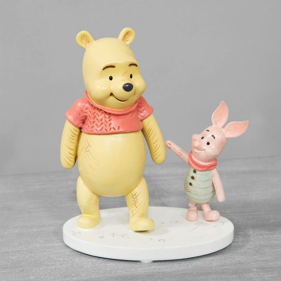 Disney Christopher Robin Winnie the Pooh & Piglet Figurine - Caths Direct