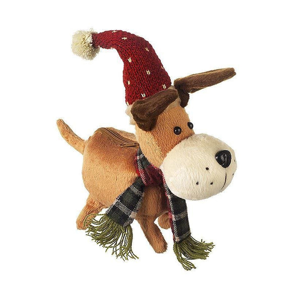 Christmas Musical Walking Dog Plays Jingle Bells Christmas Decoration - Caths Direct