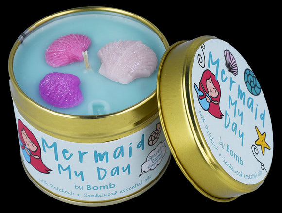 Bomb Cosmetics Mermaid My Day Scented Tin Candle - Caths Direct