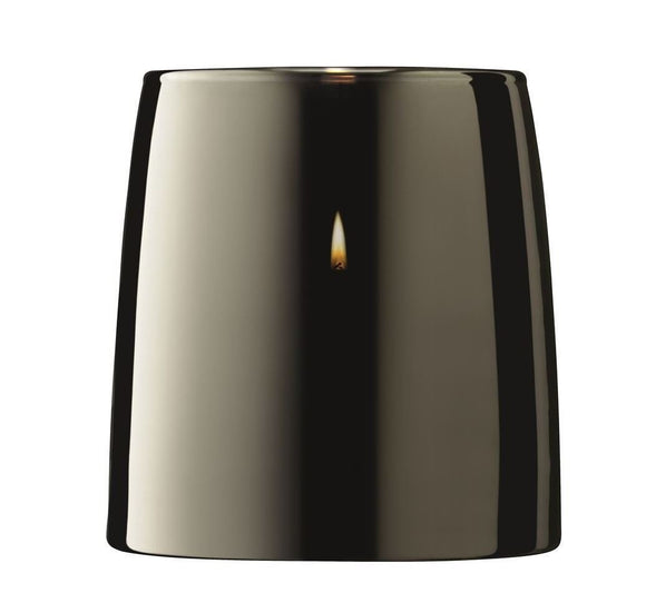 Light Metallics Table Storm Candle Lantern Platinum - Caths Direct