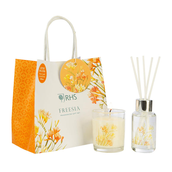 RHS Fragrant Garden Freesia Gift Bag Wax Lyrical - Caths Direct