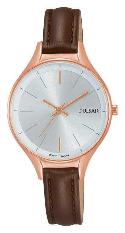 Pulsar Ladies Slim Leather Strap PH8 282 - Caths Direct