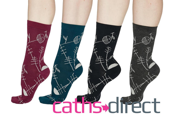 Ladies Soft Bamboo Edith Abstract Socks Size 4-7 by Thought - Caths Direct