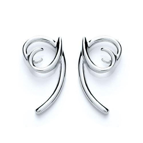 Purity Twisted Heart Earrings - Caths Direct