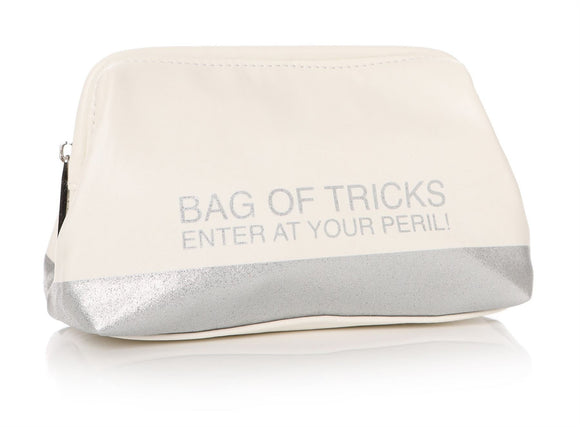 Bag of Tricks Ladies White Make Up Bag