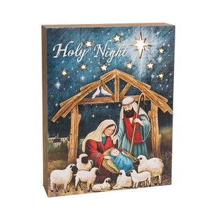 Starlight Nativity LED Wall Plaque - Caths Direct
