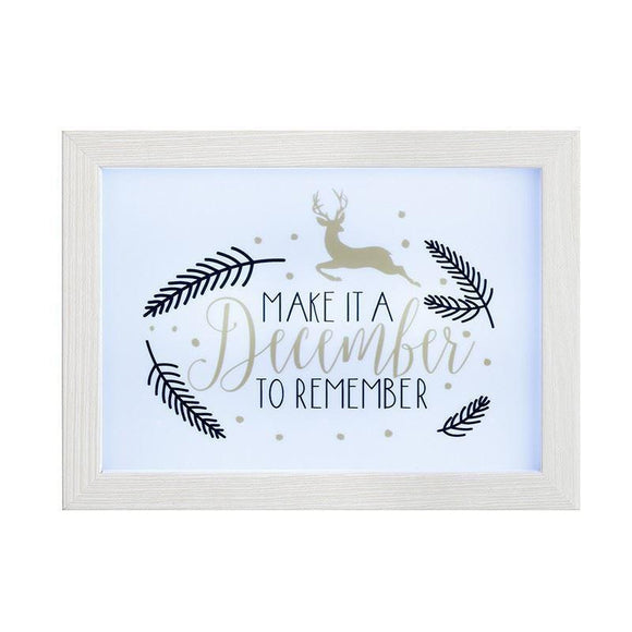 Light Up Frame Box A December to Remember - Caths Direct