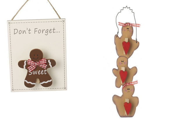 Christmas Gingerbread Peg Memo Boards Sets - Caths Direct