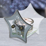 Christmas Navy Blue Glass Star Tea Light Holder - Caths Direct