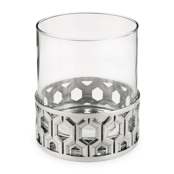 Royal Selangor Whisky Tumbler Hexagon Pewter Bar Glass - Caths Direct