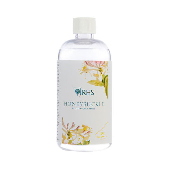 RHS Fragrant Garden Honeysuckle 200ml Reed Diffuser Refill by - Caths Direct
