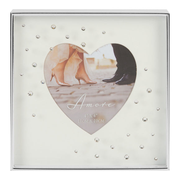 Silver Plated Heart Frame 4