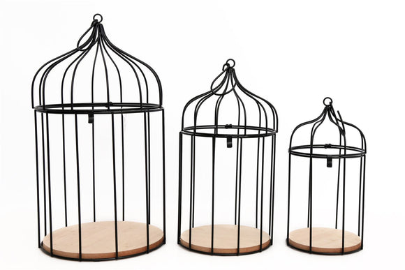 Set of 3 Birdcage Plant Holders