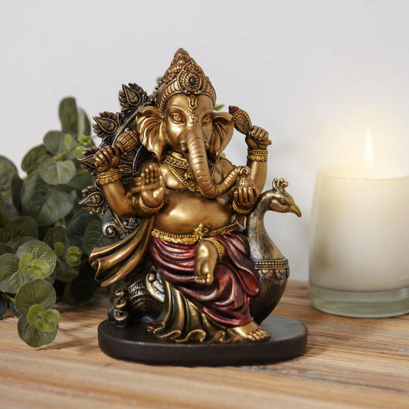 Faith & Hope Bronze Effect Ganesh Figurine Medium - Caths Direct