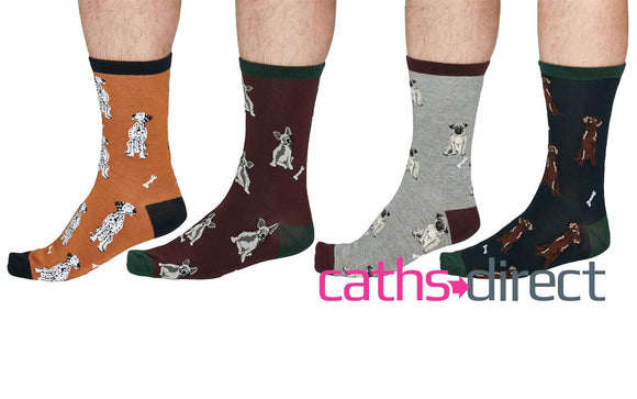 Mens Soft Bamboo Lyman Dog Socks Size 7-11 by Thought - Caths Direct