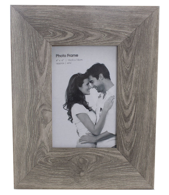 4 x 6 Simple Wood Effect Photo Picture Frame - Caths Direct