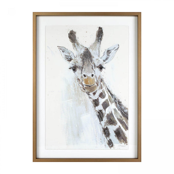 Jeffrey the Giraffe Framed & Glazed Picture - Caths Direct