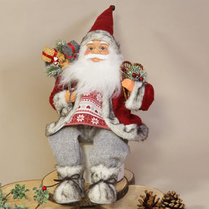 Traditional Santa Seated on Edge - Caths Direct