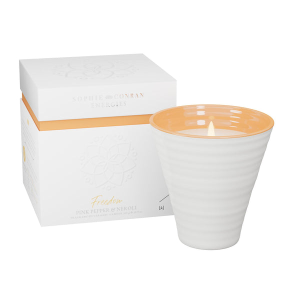 Sophie Conran Energies Freedom Pink Pepper & Neroli Ceramic Candle by Wax Lyrical - Caths Direct